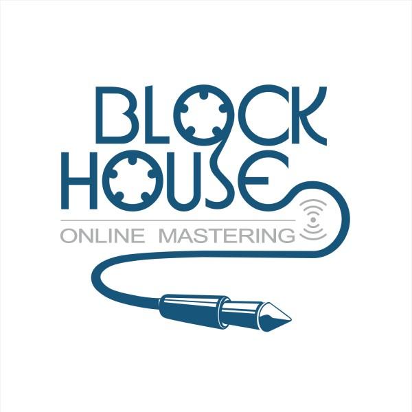Online Mastering Block House logo design