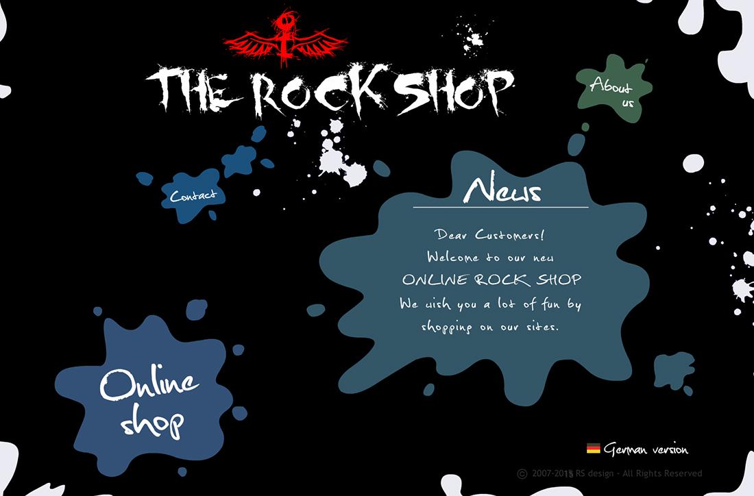 flash page rock shop by roman strazanec
